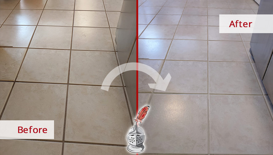 A Professional Grout Cleaning Job In Orlando Fl Gave This