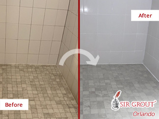 Damaged Shower Complete Restoration by Grout Sealing Experts in Orlando